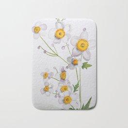 Watercolour Anemones Bath Mat