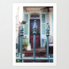 French Quarter Gate Art Print