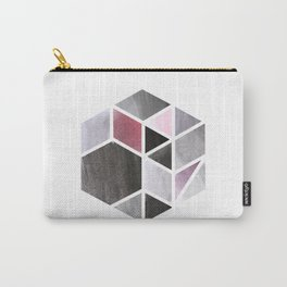 Watercolor Hexagone Carry-All Pouch