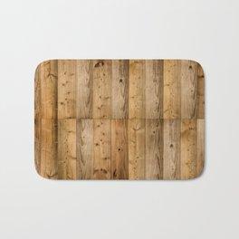 Wood Planks Dark Bath Mat