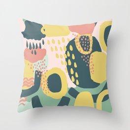 Hide and seek #vectorart #graphic #pattern #joy Throw Pillow