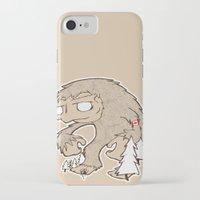 sasquatch iPhone & iPod Cases featuring Sasquatch by rebecca miller