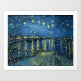 Vincent Van Gogh / Starry Night Over the Rhone Art Print