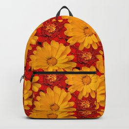 A Medley of Red and Yellow Marigolds Backpack