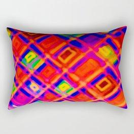 angled squares Rectangular Pillow