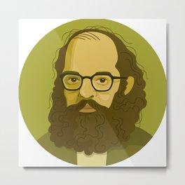 Queer Portrait - Allen Ginsberg Metal Print