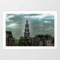 Amsterdam Cloud Light Art Print