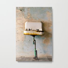 Rusted Sink Metal Print