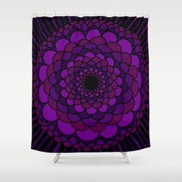 Purple Mandala Shower Curtain