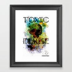 Toxic Demise Framed Art Print