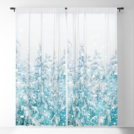 Snowy Pines Blackout Curtain