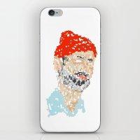 zissou iPhone & iPod Skins featuring zissou by thom mirem