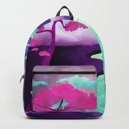 Purple Pastel Landscape Backpack