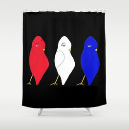 Red, Dovey & Jay Shower Curtain