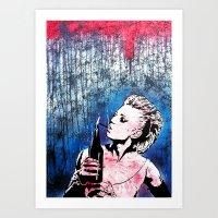 Crimson Dirt Art Print