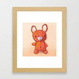 Le lapin qui aimait les champignons Framed Art Print