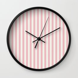 LADY PINK STRIPES Wall Clock