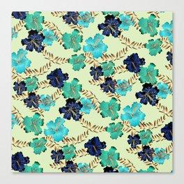 Multicolor elegant floral texture Canvas Print