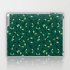 loves me loves me not pattern - hunter green Laptop & iPad Skin
