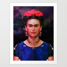 FRIDA KAHLO GEOMETRIC PORTRAIT Art Print