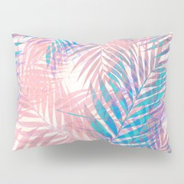 Palm Leaves - Iridescent Pastel Pillow Sham