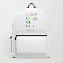 I Am A Child Of God, Bible Verse  Backpack