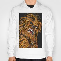 chewbacca Hoodies featuring Chewbacca by Laura-A