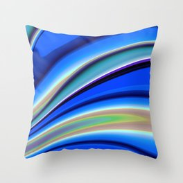 Abstract Fractal Colorways 01BL Throw Pillow