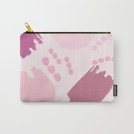 Pink abstract modern style pattern Carry-All Pouch