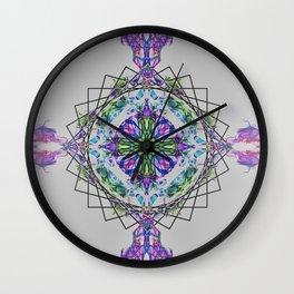 Cross Mandala Wall Clock