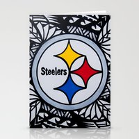 steelers Stationery Cards featuring Steelers Poly Style by Lonica Photography & Poly Designs
