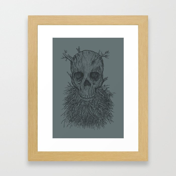 The Lumbermancer (Grey) Framed Art Print