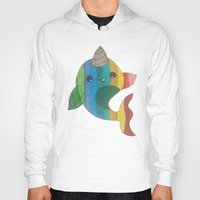 narwhal Hoodies featuring narwhal! by wickedhart