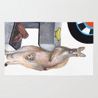 kangaroo Area & Throw Rugs featuring Kangaroo by Big AL