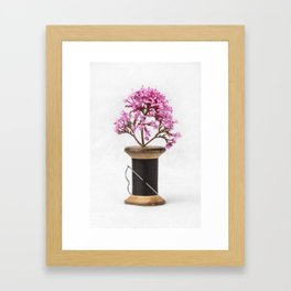 Wooden Vase Framed Art Print