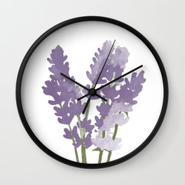 Watercolor Lavender Wall Clock