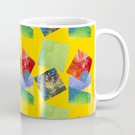 Painted Squares Jiggle - Yellow Coffee Mug