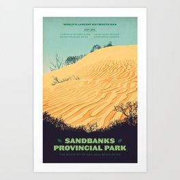 Sandbanks Provincial Park Poster Art Print