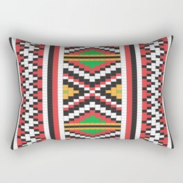 Slavic cross stitch pattern with red green orange black white Rectangular Pillow