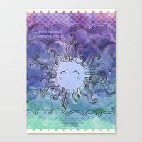 sparkles Canvas Prints featuring Sparkles by Pixtopia