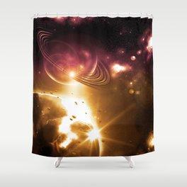 Cosmic Hot Girl Shower Curtain