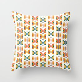 Retro Butterflies Throw Pillow