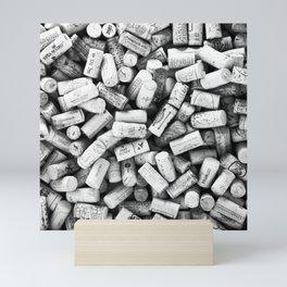 Something Nostalgic II Twist-off Wine Corks in Black And White #decor #society6 #buyart Mini Art Print