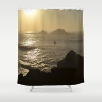 freedom Shower Curtains featuring Freedom by Caroline Benzies Photography