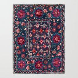 Lakai Suzani Shakhrisyabz Uzbek Embroidery Print Poster