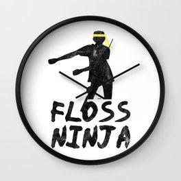 Floss Dance Move Ninja Wall Clock