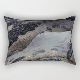 Rock Pool Amongst Mussel Beds Rectangular Pillow