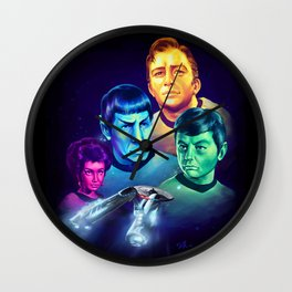 The Final Frontier Wall Clock