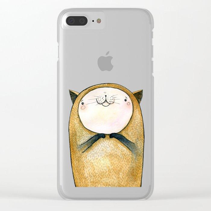 cutie cat Clear iPhone Case
