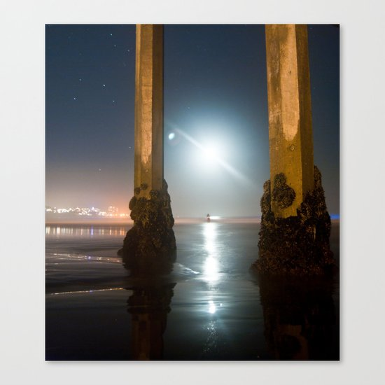 Amphitrite by Moonlight Canvas Print